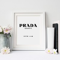 Prada Canvas Wall Art Print