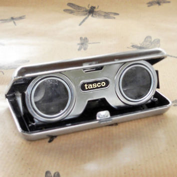 Chic Retro Vintage Tasco Opera Glasses, Binoculars, Compact, Bird Watching, Mad Men, Boxed