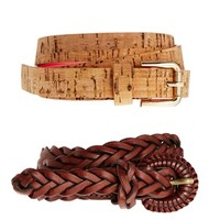 Pull&Bear 2 Pack Braid Belts