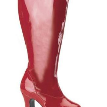Pleaser Female 4 Inch Heel Wide Width Platform Gogo Boot EXO2000X