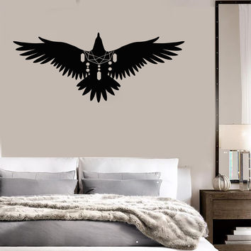 Vinyl Wall Decal Dreamcatcher Bird Ethnic Amulet Bedroom Art Stickers Mural Unique Gift (ig5005)