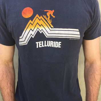 Amazing 1978 Telluride Colorado Skiing Vintage T Shirt