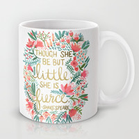 Little & Fierce Mug by Cat Coquillette | Society6