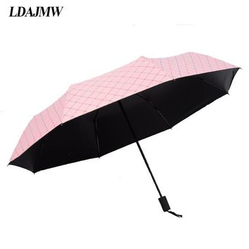 LDAJMW Factory Outlet 8 Seventy Percent off Bone Black Plastic Clear Umbrella Fresh Anti UV Umbrella Shade Reverse umbrella