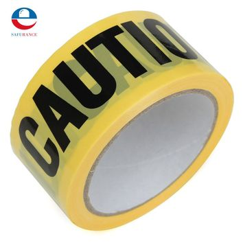 50mx5cm Roll Yellow Caution Tape Sticker For Safety Barrier For Police Barricade For Contractors New Arrival Free Shipping
