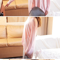 Long Sleeved High Low Shirt