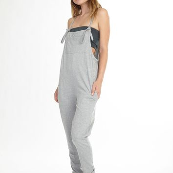 Grey Drop Crotch Yoga Jumpsuit