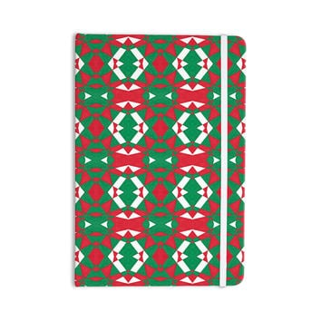 "Empire Ruhl ""Christmas Geo"" Red Green Everything Notebook"