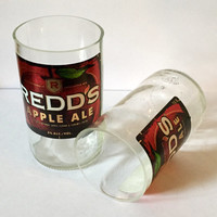 Upcycled Redd's Apple Ale Beer Bottle Tumbler Drinking Glasses