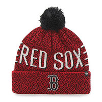 Boston Red Sox Red Mezzo Cuff Knit Winter Beanie Hat With Pom