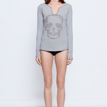 Zadig & Voltaire grey marl tunisien ml strass woman t shirt