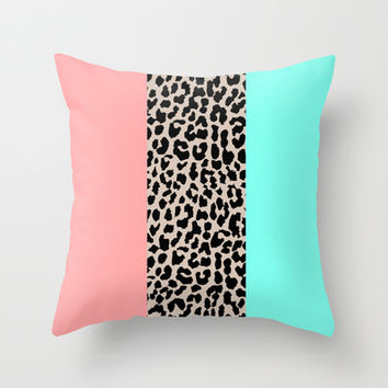 Leopard National Flag VIII Throw Pillow by M Studio