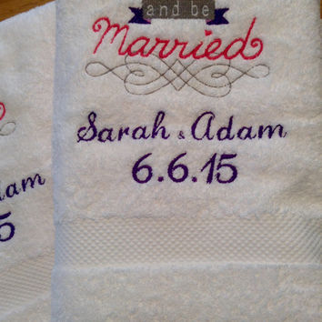 25 Wedding Favor Towels - Personalized - Luxury White Cotton
