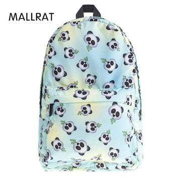 MALLRAT Eomji Panda Print Backpack Women Mochila Necessaire School Bags Bookbag for teenage girls sac a dos canvas backpack