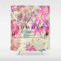 SUMMER LOVE Shower Curtain by Nika