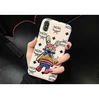 MCM Tide brand embroidery rabbit men and women models iPhoneXsMax phone case