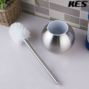 Kes Toilet Brush W/ Holder Stainless Steel Brushed Finish Btb200-2