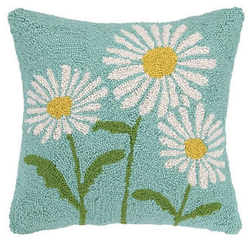 Daisy Flowers Accent Throw Pillow