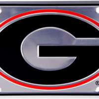 Georgia Bulldogs Anodized License Plate | UGA Auto Tag | UGA License Plate