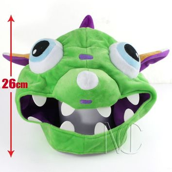Game LOL Gnar Plush Hat lol Cosplay caps for Gamer Chirstmas gift