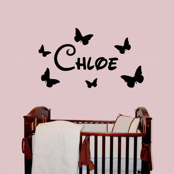 Personalised Girls Name Wall Art Kids Bedroom Sticker Graphic transfer Vinyl