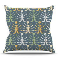 KESS InHouse My Leaves by Julia Grifol Outdoor Throw Pillow