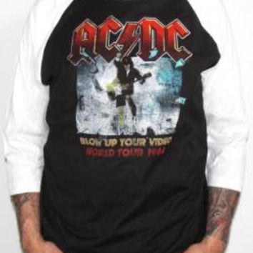 AC/DC Baseball Jersey Shirt - Blow Up Your Video