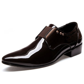 2016 Spring Man Formal Black Shoes Leather Form Business Breathable