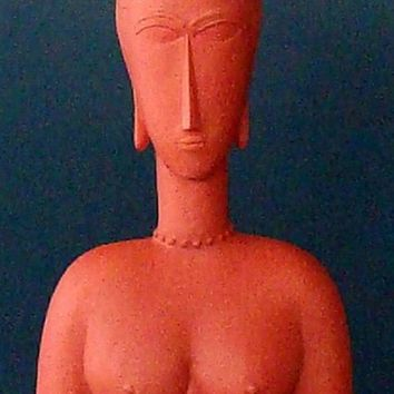 Modigliani Abstract Female Red Bust 6.75H - MO14