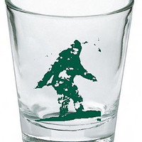 Sasquatch Bigfoot Yeti Shot Glass LIMITED EDITION