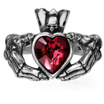 """Claddagh By Night"" Ring by Alchemy of England"