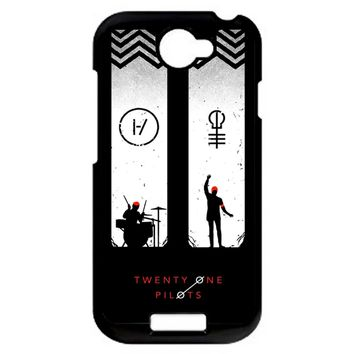 Twenty One Pilots Josh Dun Tyler Joseph HTC One S Case