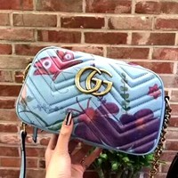 GUCCI x Unskilled Worker Joint Female Marmont Chain Bag Shoulder Bag