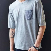 ALTERNATIVE Half-Sleeve Pocket Crew-Neck