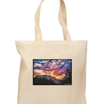 Colorado Rainbow Sunset Grocery Tote Bag