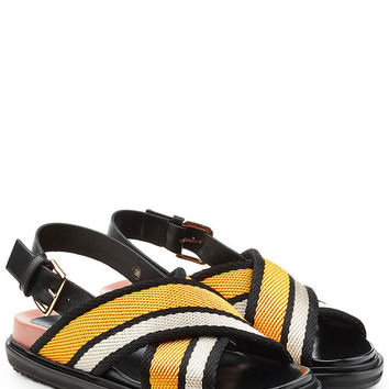 Fabric and Leather Sandals - Marni | WOMEN | US STYLEBOP.COM