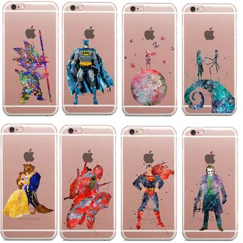 Beauty and the beast harley quinn prince soft silicone TPU Phone Cases for iPhone 5 5S SE 6S 6S 6Plus 7 7Plus 8 8Plus X Cover