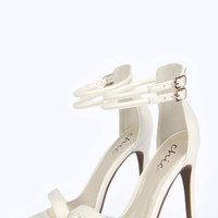 Tammy Faux Snake Two Part Heels