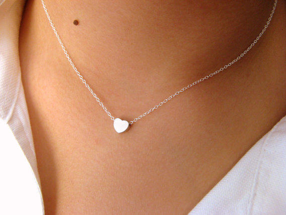 little dainty sterling silver necklace from jewelsisses on etsy. Black Bedroom Furniture Sets. Home Design Ideas