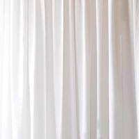 "New 84"" H White Bedroom/Living Room Velvet Curtain Drapes Panel w/Rod Pocket Top"