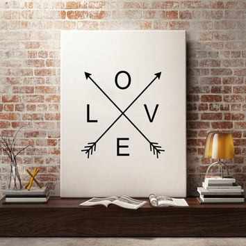 Printable Large Wall Art Love Print Love Poster Love Arrows Large Art Home Decor Office Decor Poster Wall Art Decor Modern Printable Art