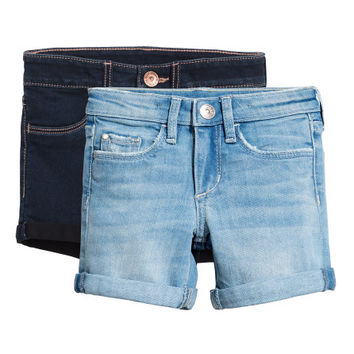 2-pack Denim Shorts - from H&M