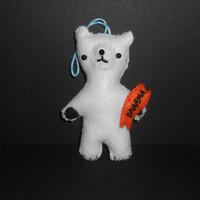 LOST Inspired Christmas Ornament Polar Bear and Dharma Fish Biscuit
