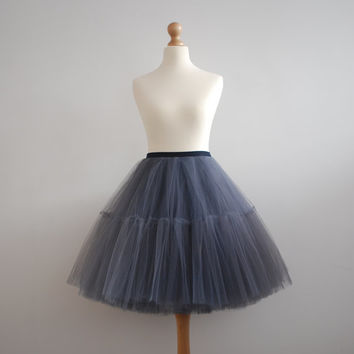 Ballerina Le Poof : hand dyed tulle skirt  / adult tutu / ladies tulle skirt / bridesmaid / custom dyed skirt  / wedding petticoat