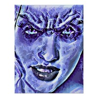 Water Demon Demi God Fantasy Abstract Art Poster