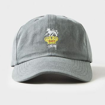 300b30669ef Rootz Lion Washed Cap from Stussy