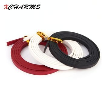 XCHARMS 100*0.5cm Solid color PU Leather Cord & Rope Diy Jewelry Findings Accessories Jewelry Bracelet Necklace Making Materials