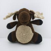 Moose, amigurumi, crochet doll, handmade, animal