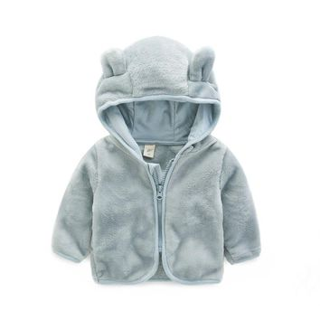 Baby Coat PonchosCapes Jacket loak Sweater With Ears Bebek Mont Baby Kleding Hooded Bab Poncho Coat Jacket 70D124