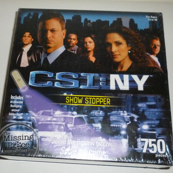 CSI: NY New York Show Stopper Mystery 750 Piece Puzzle